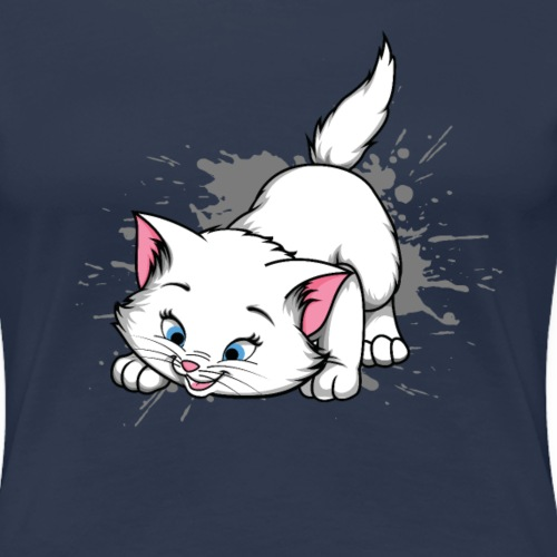 Katze Splash Pfützen Sprung - Frauen Premium T-Shirt