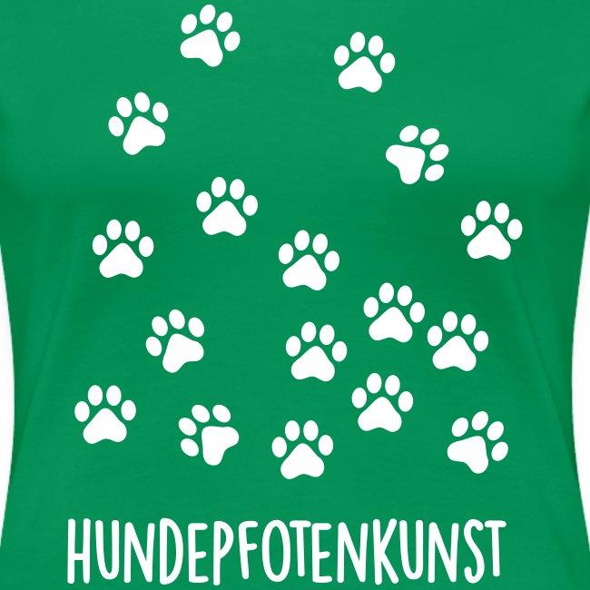 Vorschau: Hundepfotenkunst - Frauen Premium T-Shirt
