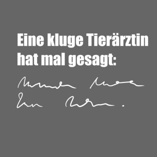 Kluge Tierärztin - Frauen Premium T-Shirt
