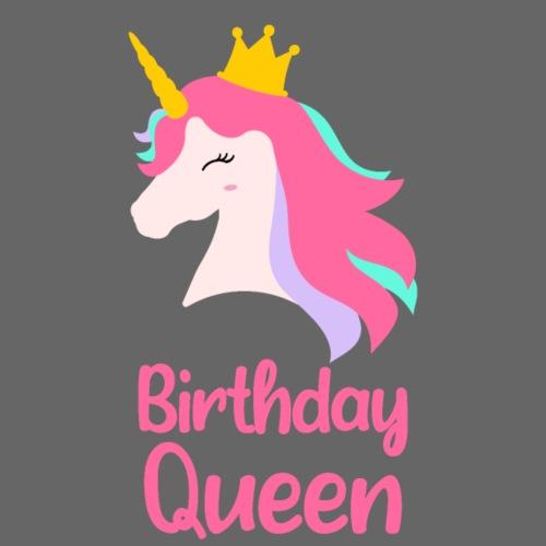 Królowa urodziny korona jednorożec - Koszulka damska Premium