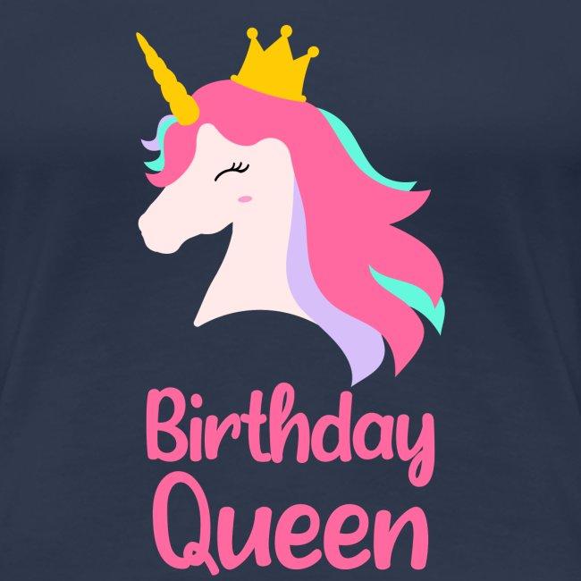 Królowa urodziny korona jednorożec