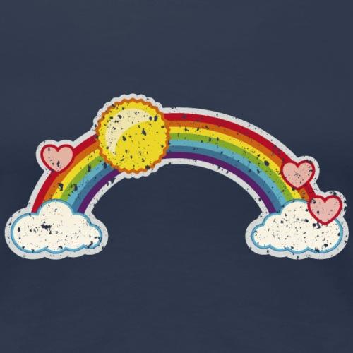 Regenbogen rainbow Wolke 7 Retro Grunge Vintage - Women's Premium T-Shirt