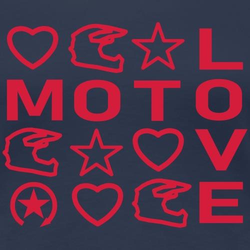 MOTO LOVE - Frauen Premium T-Shirt