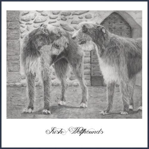 Irish wolfhound Poster - Dame premium T-shirt