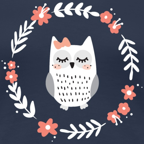 Hibou fleur - T-shirt Premium Femme