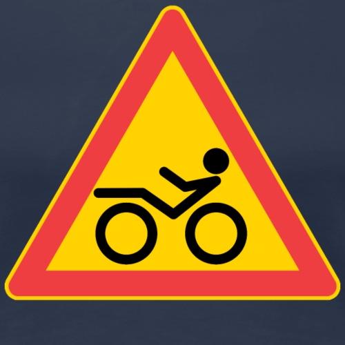 Traffic sign Recumbent - Naisten premium t-paita