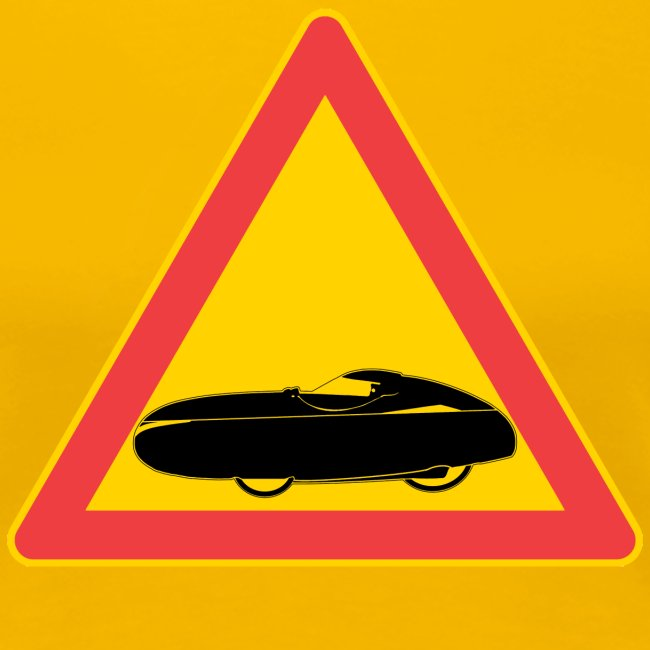 Traffic sign velomobile