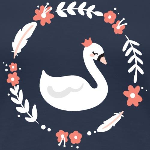 Cygne floral - T-shirt Premium Femme