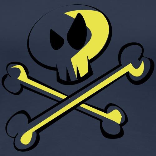 Cartoon Skull - Frauen Premium T-Shirt