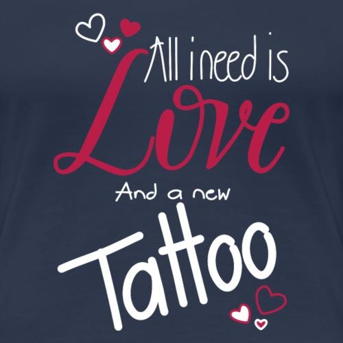 all i need is... (weiss) - Frauen Premium T-Shirt
