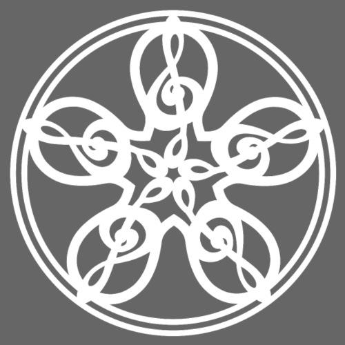 Treble Clef Mandala (white) - Women's Premium T-Shirt