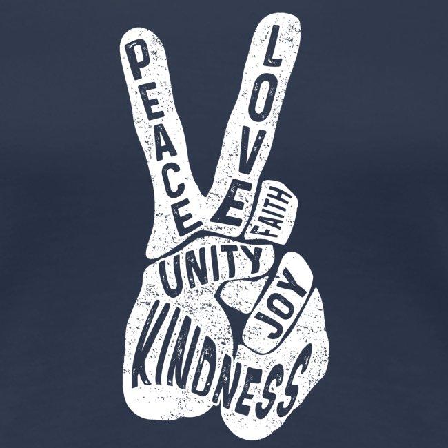 Frieden Freiheit Glaube und Gleichheit Hand Peace