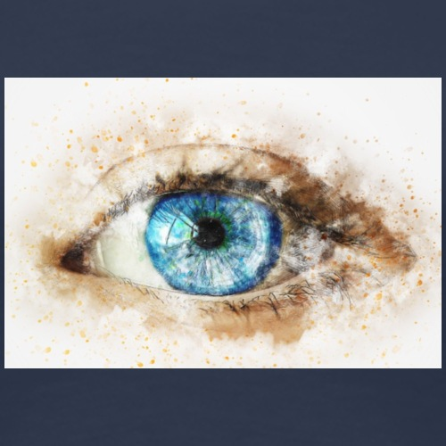 eye-blue-girl-art - T-shirt Premium Femme