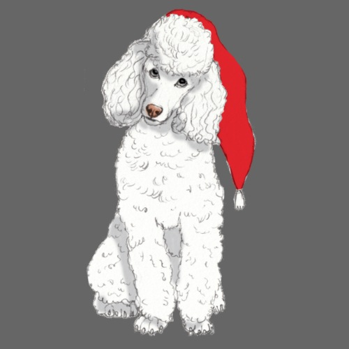 Poodle toy W - christmas - Dame premium T-shirt