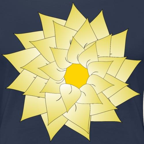 flower light yellow - Women's Premium T-Shirt