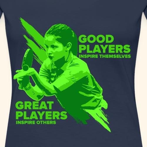 Tischtennis Mädchendesign Konzetration - Frauen Premium T-Shirt