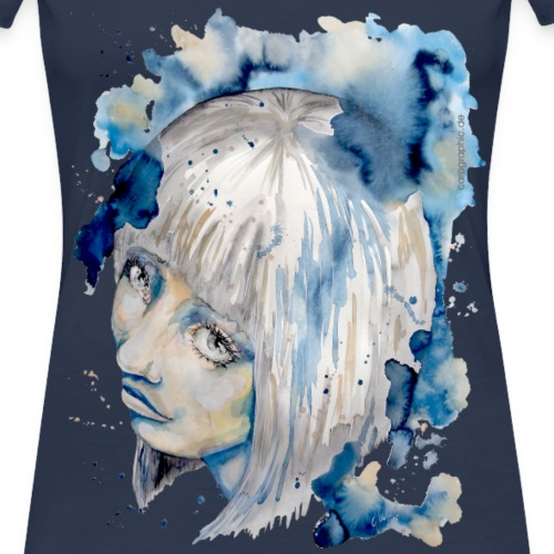 Nieves watercolorpainting by carographic - Frauen Premium T-Shirt