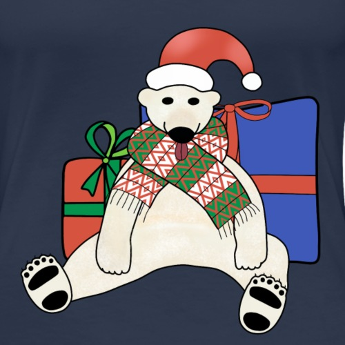 Christmas polar bear - Women's Premium T-Shirt