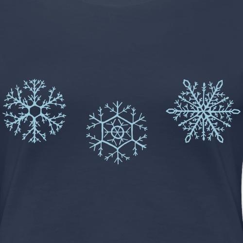 3-Star Snowflakes - Women's Premium T-Shirt