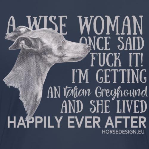 Fuck it - Windspiel Spruch - Frauen Premium T-Shirt