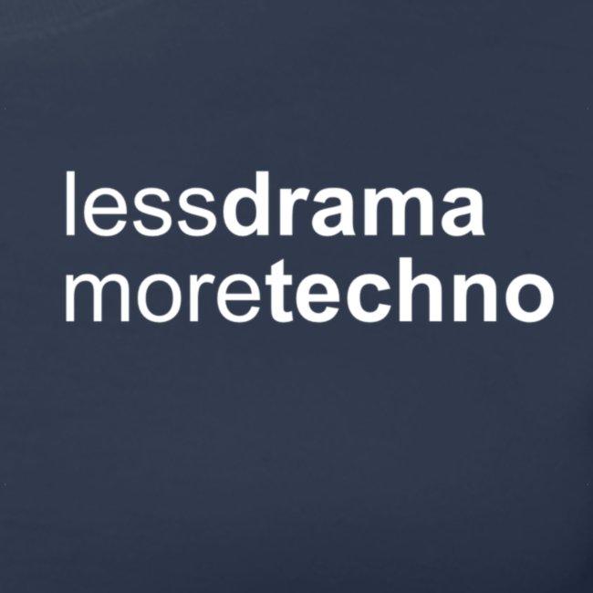 Less Drama bianco png