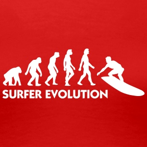 Evolutionen af ​​Surfing - Dame premium T-shirt
