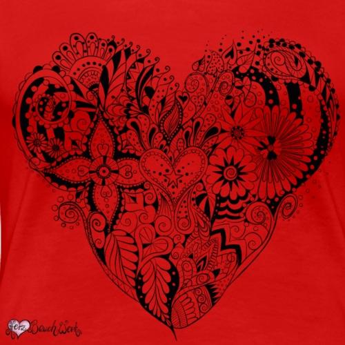 MandalaHerz ohne Hintergrund - Frauen Premium T-Shirt