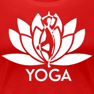 ++ ++ Yoga Flower - Premium-T-shirt dam