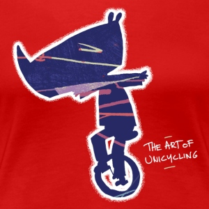 Rhino unicycle - The art of unicycling - Women's Premium T-Shirt