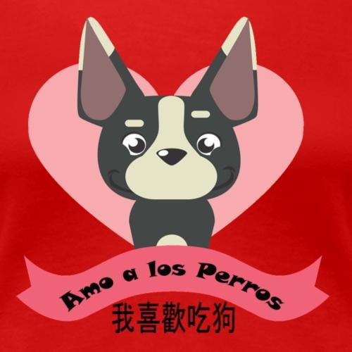 me gusta comer perro en chino broma para amigos - Camiseta premium mujer