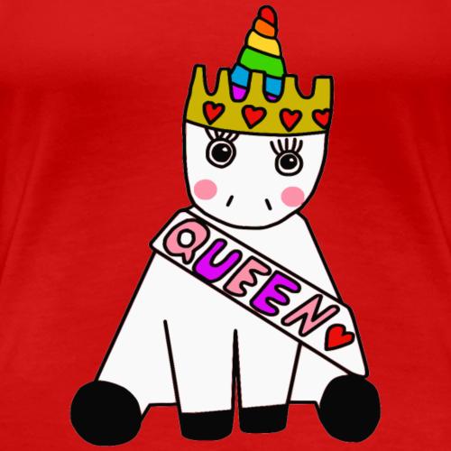 Einhorn Königin - Frauen Premium T-Shirt