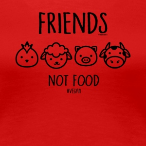 Friends Not Food #vegan - Frauen Premium T-Shirt