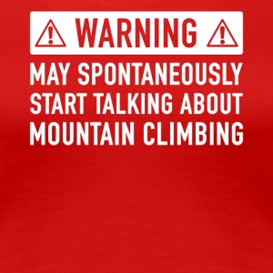 Funny Mountaineers Gave Idé - Dame premium T-shirt