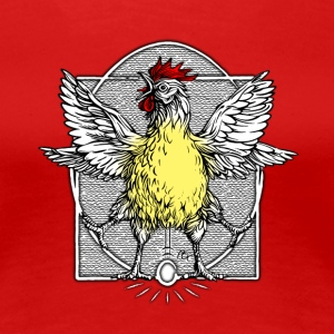 The rooster Vitruve2 - Women's Premium T-Shirt