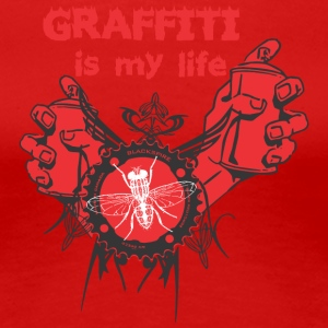 graffiti is my life - Women's Premium T-Shirt