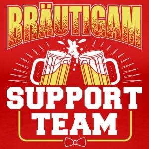 Brudgummen Support Team - Premium-T-shirt dam