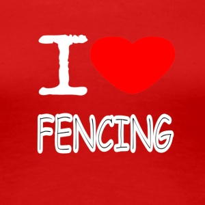 I LOVE FENCING - Dame premium T-shirt