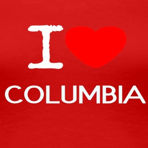 I LOVE COLUMBIA - Premium T-skjorte for kvinner