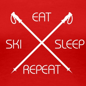 Ski Eat Sleep - Premium T-skjorte for kvinner