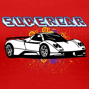 Supercar white - Women's Premium T-Shirt