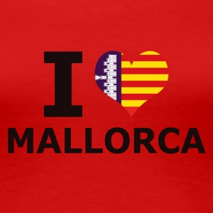 I LOVE MALLORCA FLAG - Premium T-skjorte for kvinner