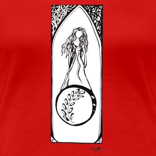 art deco pour la paix avec fond blanc - T-shirt Premium Femme