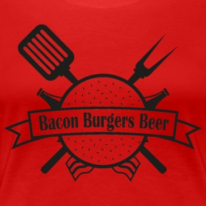 Bacon Burgers Beer - Premium T-skjorte for kvinner