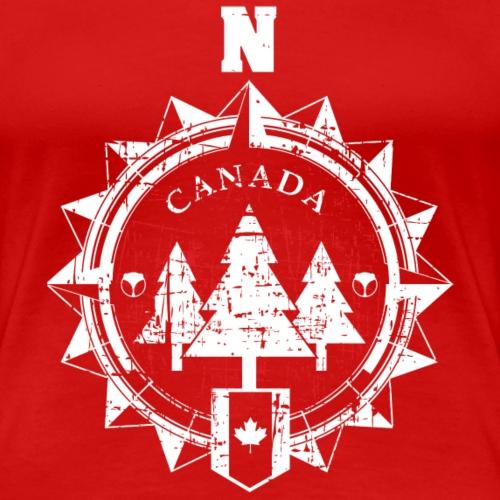 Eisbaer Kompass rot weiss - Frauen Premium T-Shirt