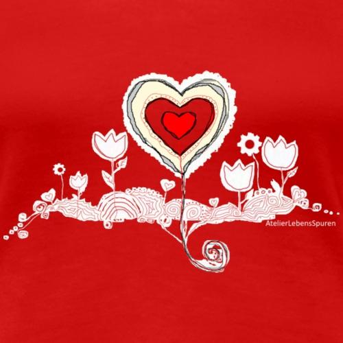 HerzLinien - Frauen Premium T-Shirt