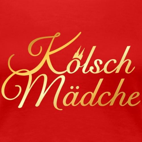 Kölsch Mädche mit Kölner Dom aus Köln - Frauen Premium T-Shirt