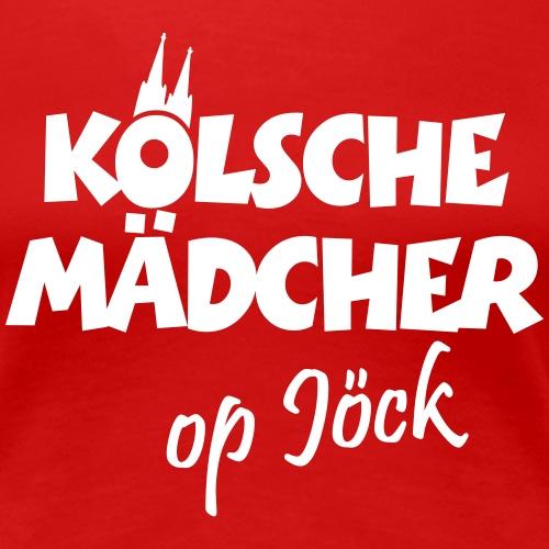 Kölsche Mädcher op Jöck Köln Design - Frauen Premium T-Shirt