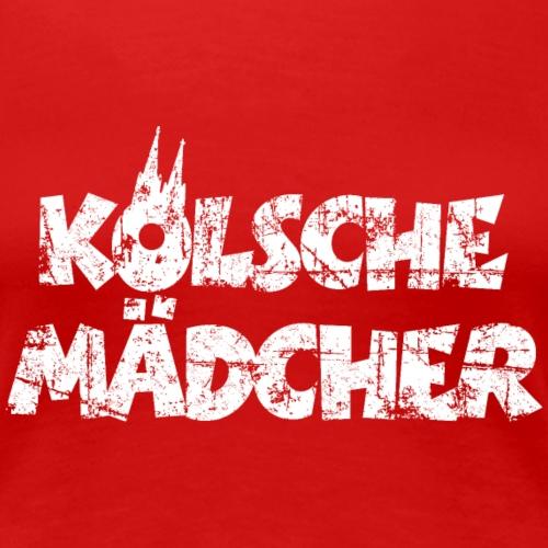 Kölsche Mädcher (Vintage Weiß) Mädchen aus Köln - Frauen Premium T-Shirt