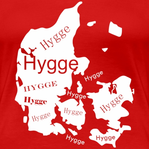 Hygge Mapa blanco - Camiseta premium mujer