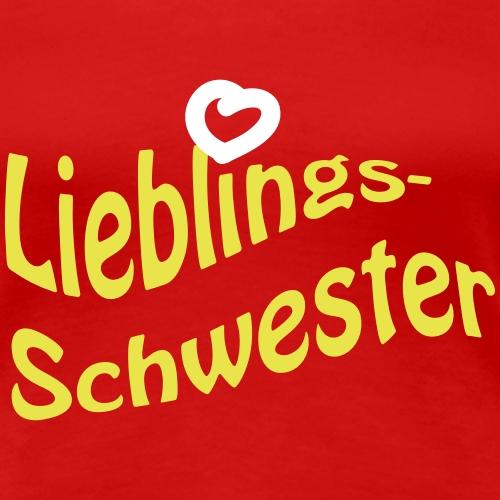 Lieblings-Schwester - Frauen Premium T-Shirt